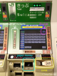 Japan for the First Time Train ticket Machine