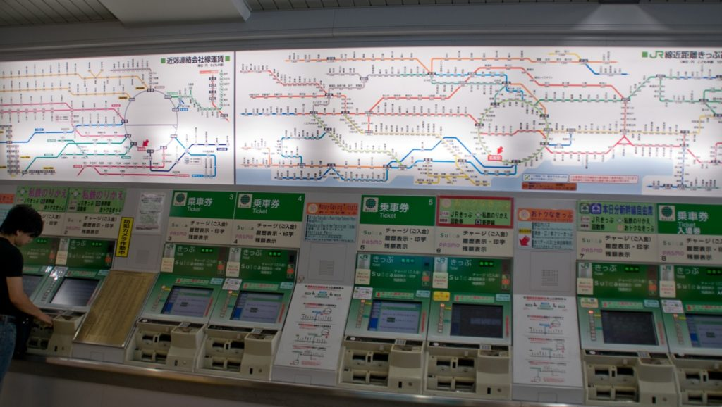 Japan for the First Time Train Map