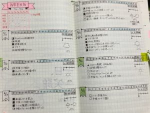 Bullet Journal Diary in Japanese