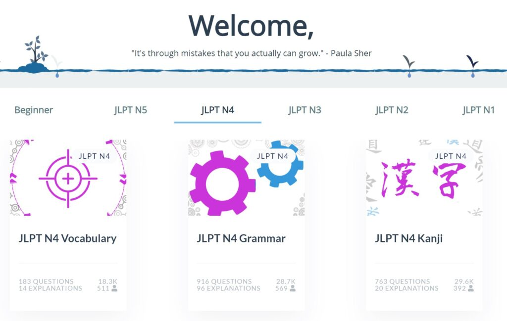 Japanese Practice Questions Online - JPDrills Review JLPT N4